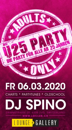 Flyer Ü25 Party - Adults Only