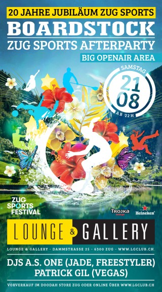 Flyer Boardstock - Afterparty Zug Sports